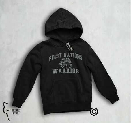 First Nations Warrior Headdress youth hoodie black