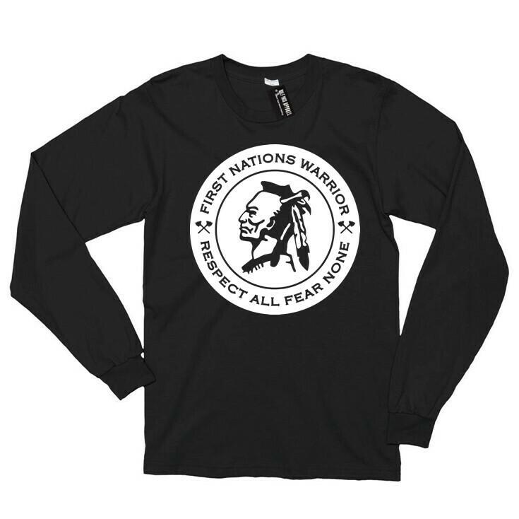 Respect All Fear None - Black Longsleeve shirt