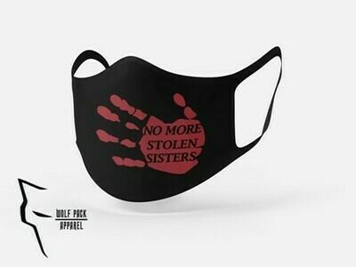 No More Stolen Sisters mask- Standard fit red ink