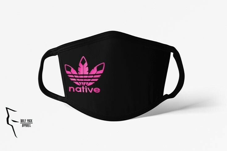 Native Style 2020 mask - Standard fit pink ink