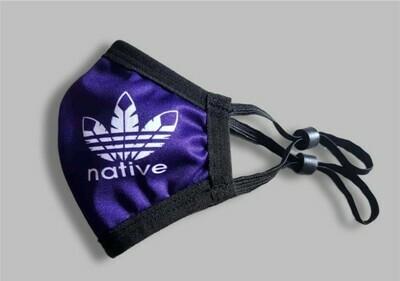 Kids Native Cotton Poly Mask -  Navy Blue