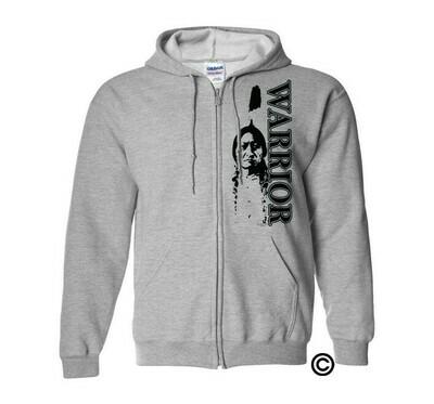Sittingbull Warrior - Adult Zip Hoodie sport grey