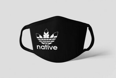 Native Style 2020 mask - Standard fit white ink