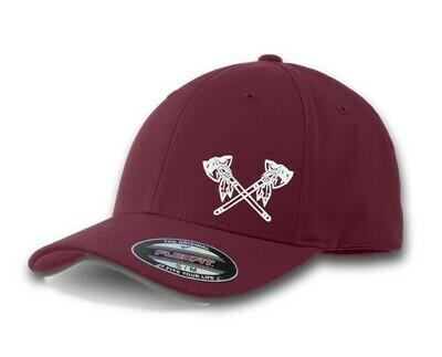 Tomahawk Hat flex-fit maroon