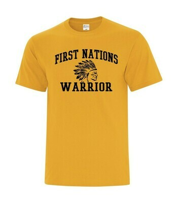 First Nations Warrior basic fit tee  Limited Edition Gold