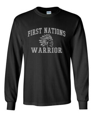 First Nations Warrior - Adult Long Sleeve Shirt
