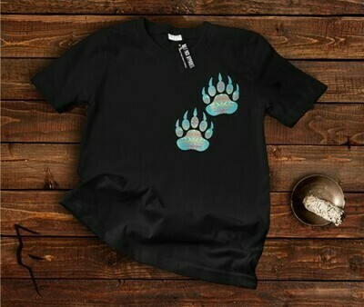 Turquoise Bear Paw - Basic Fit Tee