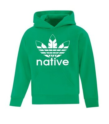 Native Style  Youth Hoodie - kelly