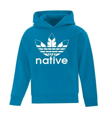 Native Style  Youth Hoodie - Sapphire