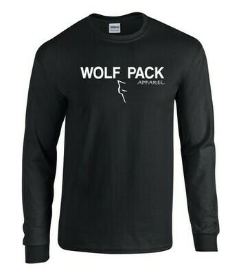 Wolf Pack logo - Black Longsleeve shirt