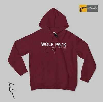 Wolf Pack logo - Hoodie maroon