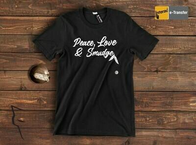 Peace Love Smudge - basic tee black