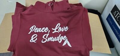 Peace love Smudge - Hoodie maroon