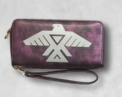 Thunderbird clutch wallet