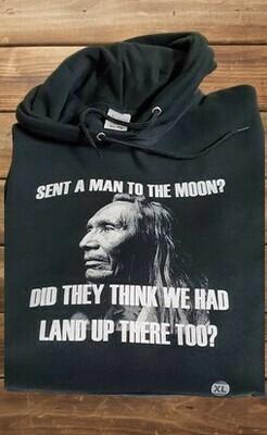 Man to the moon - black hoodie