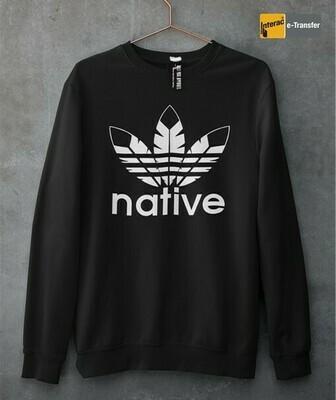Native Style - Crewneck Sweater black