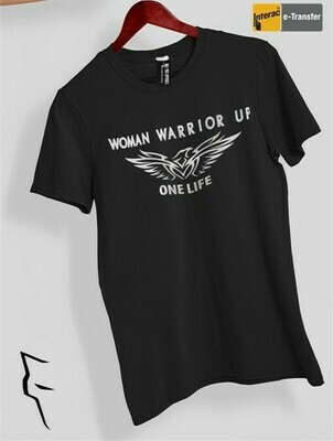 Woman Warrior Up - Basic fit tee black