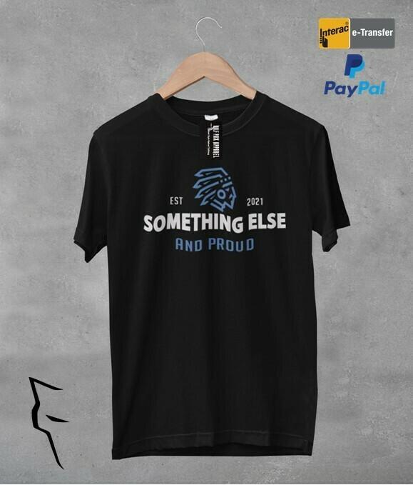 Something Else - basic tee w blue