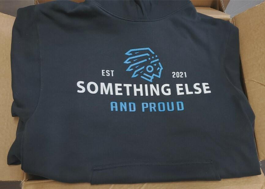Something Else - hoodie w blue
