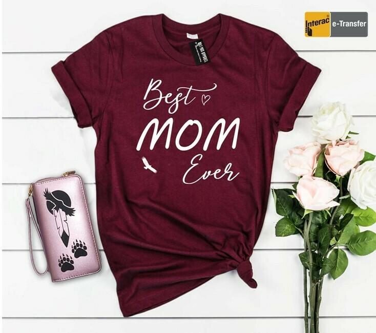 Best Mom Eagle - Basic fit tee maroon