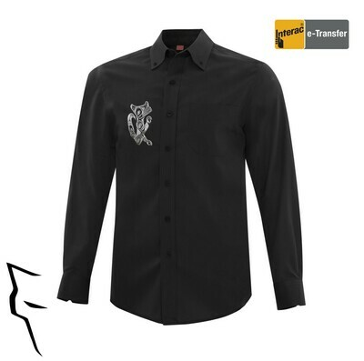 Wolf Protector - Mens Dress Shirt black