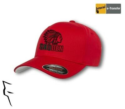 Skoden Hat flex-fit red