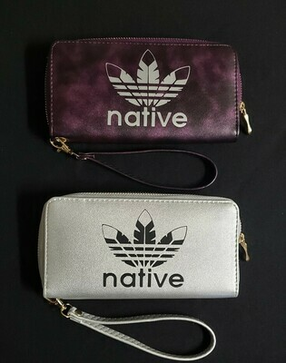 Native Style clutch wallet