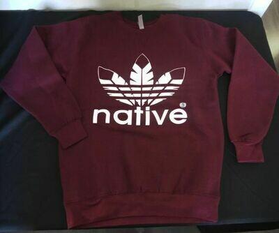 Native Style - Crewneck Sweater maroon