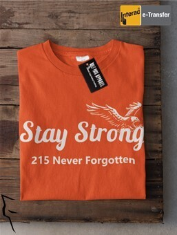 Stay Strong 215+   - basic fit tee orange