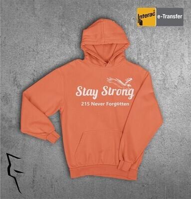 Stay Strong 215 - Orange adult hoodie