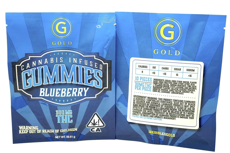 Gold Gummies Blueberry 300mg