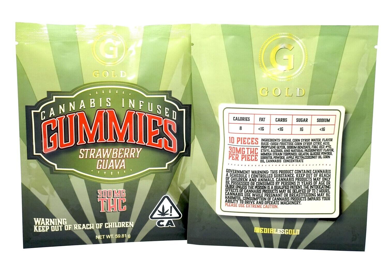 Gold Gummies Strawberry Guava 300mg