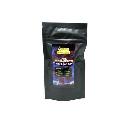 Green Privilege Bites - Dark Chocolate 400mg