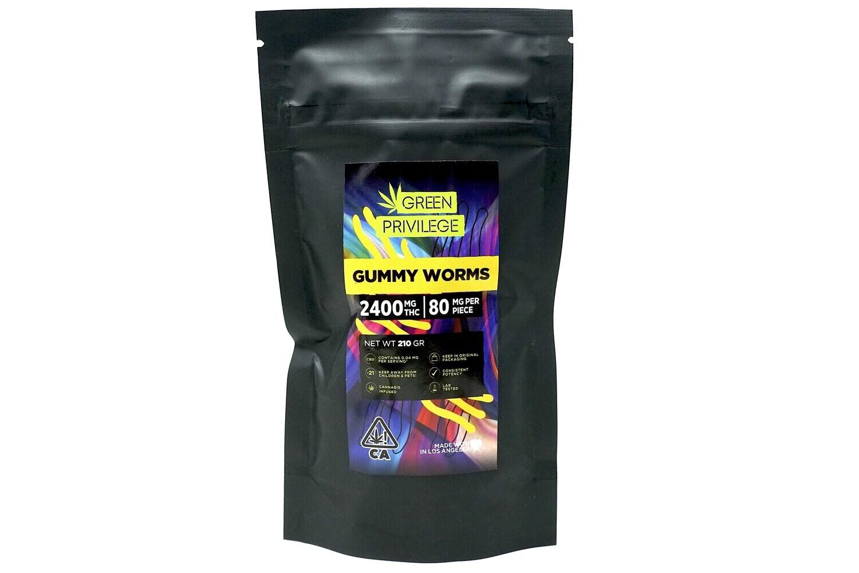 Green Privilege - Gummy Worms 2400mg