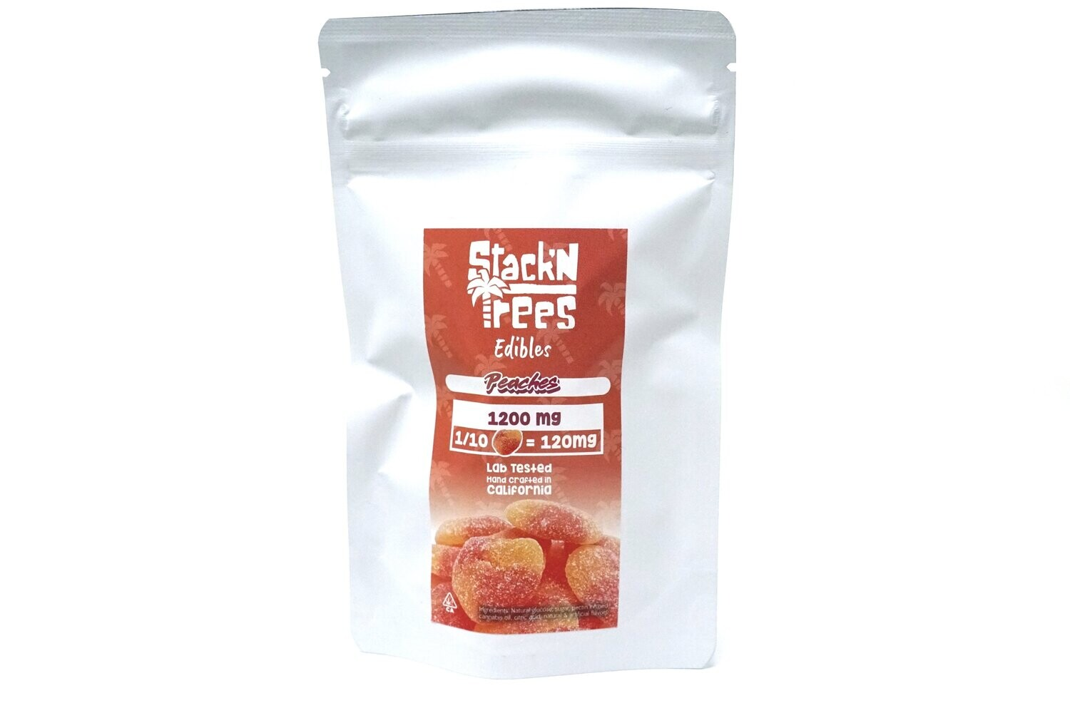 Stack N' Trees Gummy - Peaches 1200mg