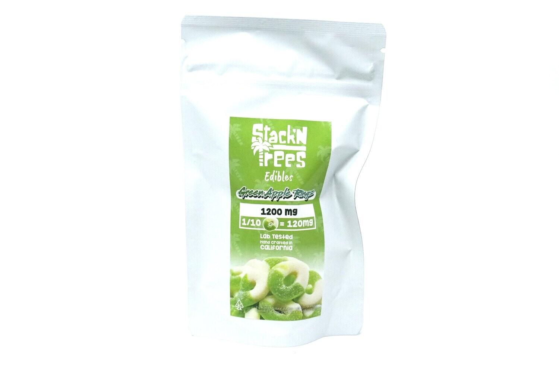 Stack N' Trees Rings - Green Apple 1200mg