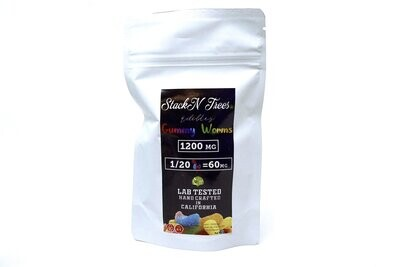 Stack N' Trees Gummy - Worms 1200mg