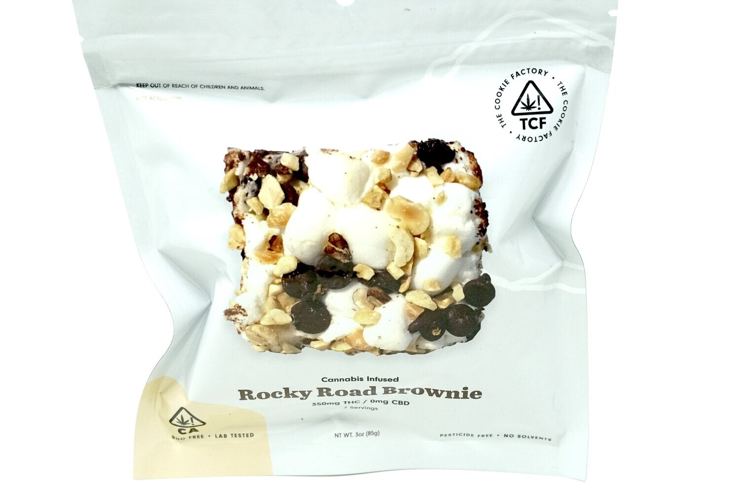 The Cookie Factory Brownie - Rocky Road 350mg