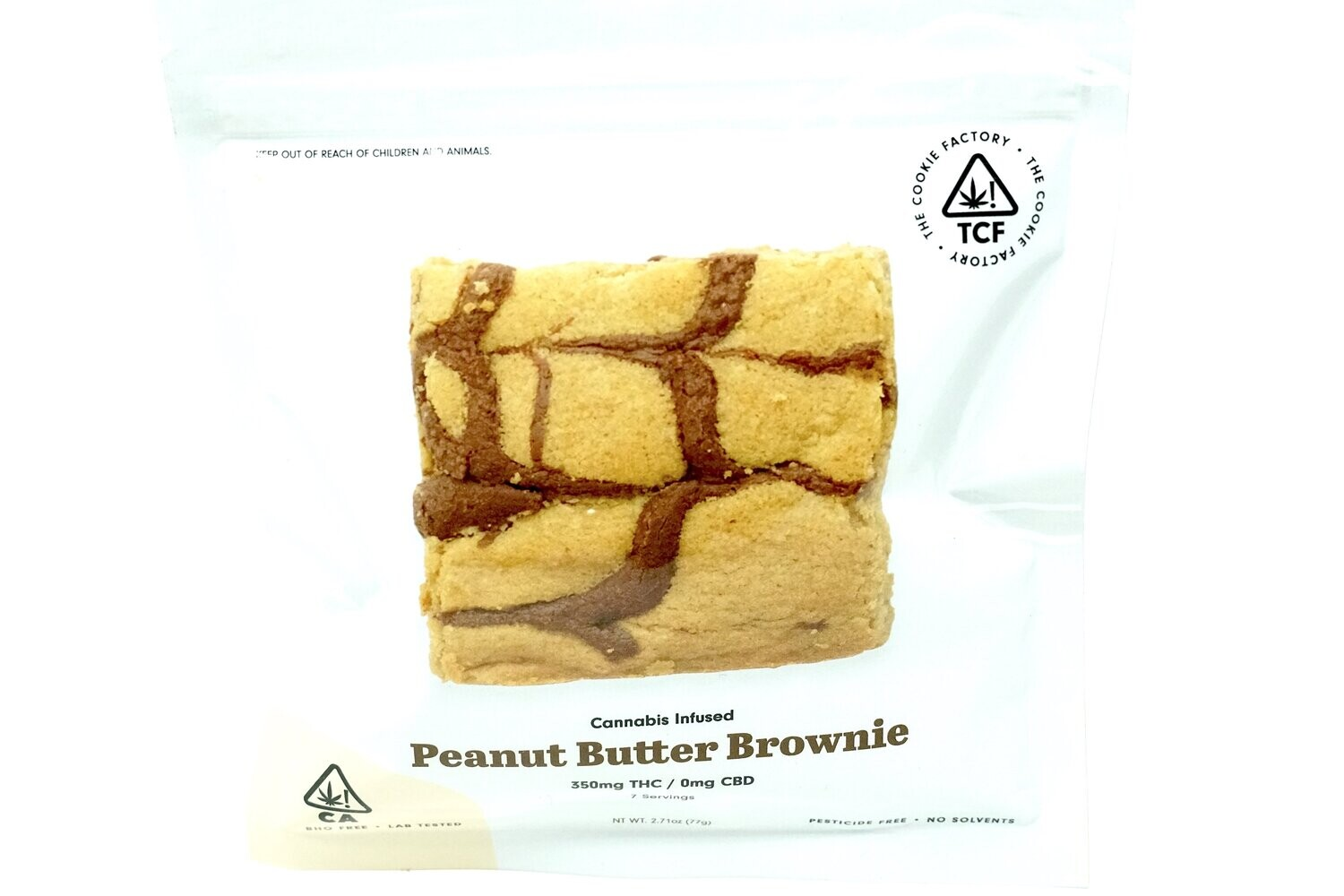 The Cookie Factory Brownie - Peanut Butter 350mg