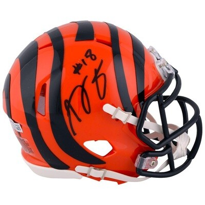 AJ Green Autographed Cincinnati Bengals NFL Riddell Speed Mini Helmet (w/ Certificate of Authenticity)