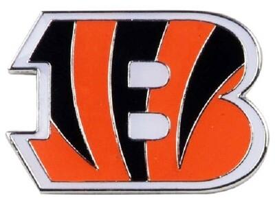 Cincinnati Bengals B Logo NFL Enamel Lapel Pin