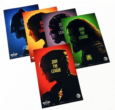 Join the League Justice League DC 5-Poster Set