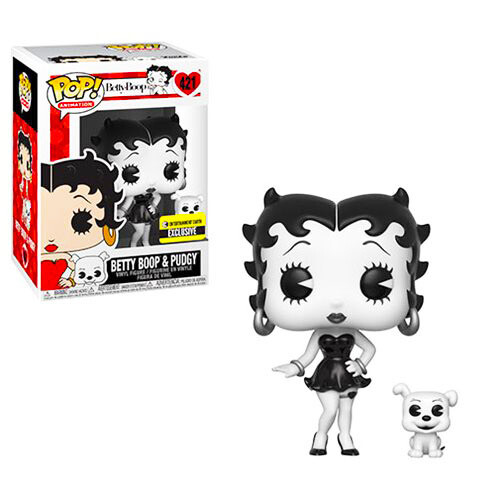 Betty Boop and Pudgy (Black & White) Funko Pop 421 Entertainment Earth Exclusive