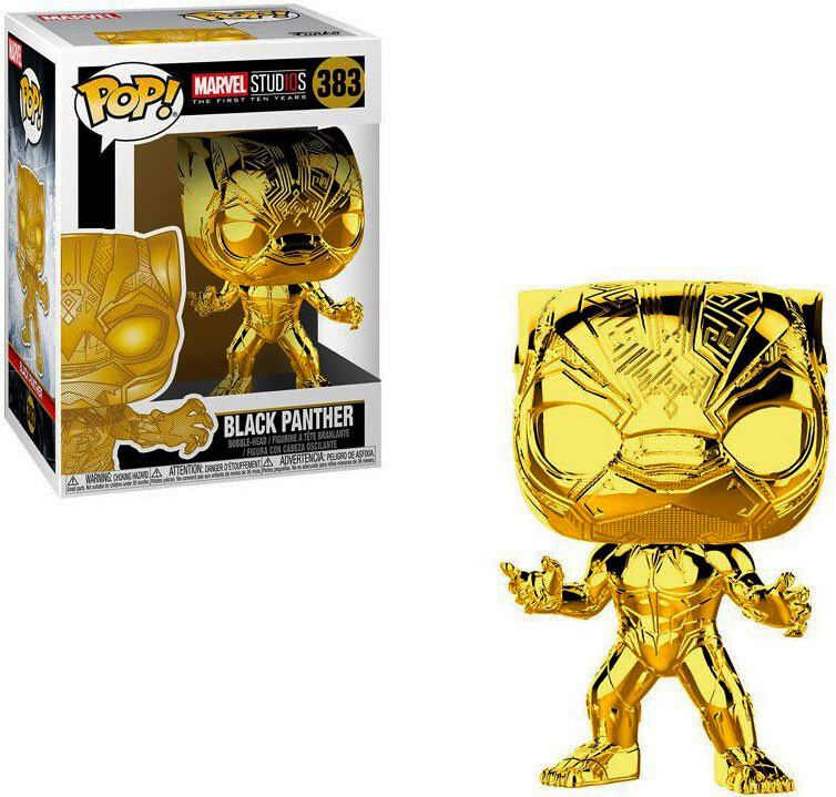 Black Panther (Gold Chrome) Marvel Studios the First Ten Years Marvel Funko Pop 383