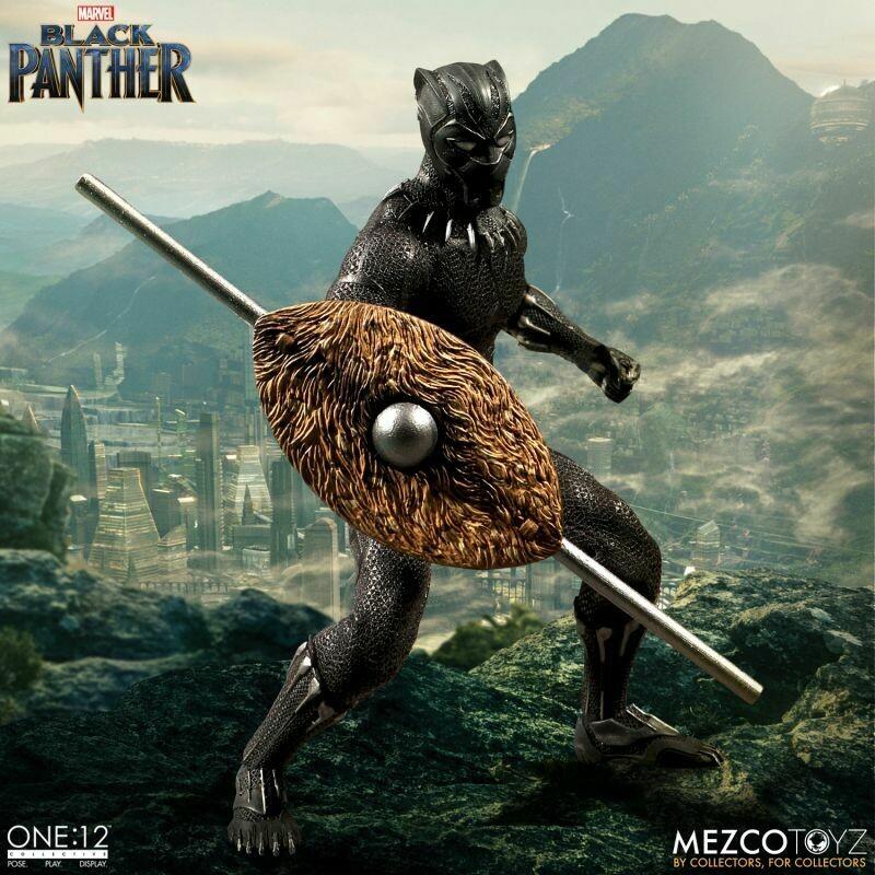 Black Panther Marvel 1:12 Scale Mezco Toyz Action Figure