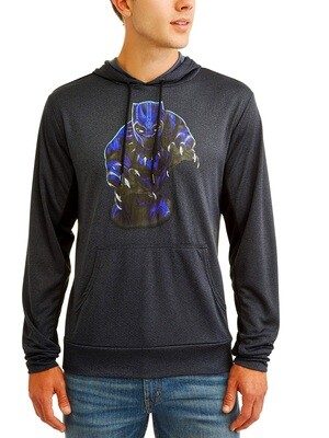Black Panther Marvel Long Sleeve Pullover Hooded Shirt
