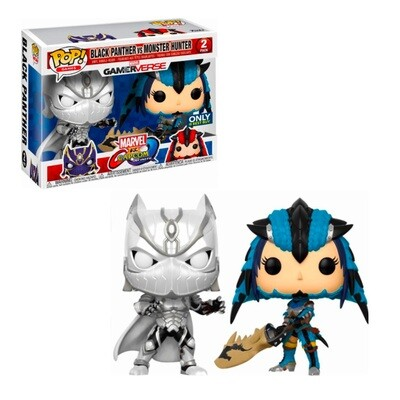 Black Panther vs. Monster Hunter Marvel vs. Capcom: Infinite  Funko Pop Games Gamerverse 2-Pack Best Buy Exclusive