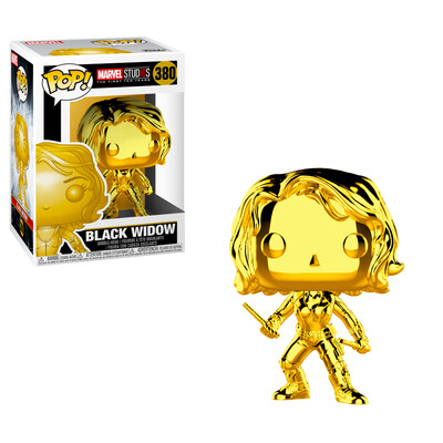 Black Widow (Gold Chrome) Marvel Studios the First 10 Years Marvel Funko Pop 380