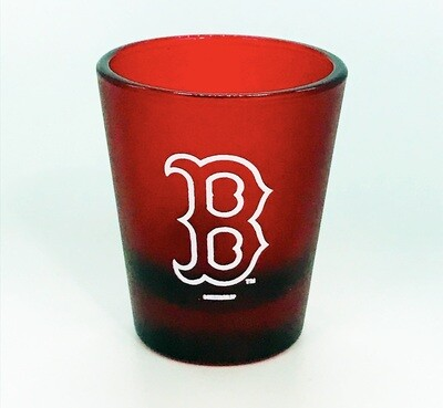 Boston Red Sox B Logo MLB Frosted Shot Glass