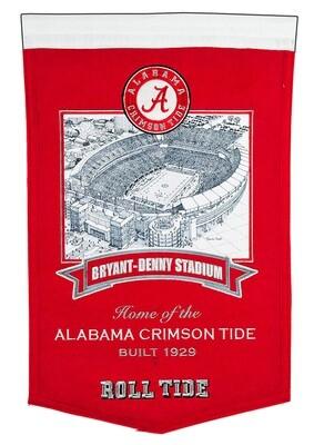 Bryant-Denny Stadium University of Alabama Crimson Tide NCAA Stadium Felt Wall Banner